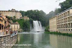 Cascata Grande - one of the two Isola del Liri Waterfalls  Isola del Liri / Frosinone Province, Lazio Region, Italy