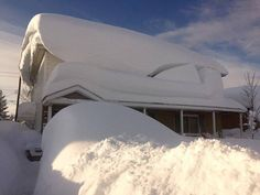 """Update from our friends in Buffalo! 76"""" of snow in 24 hours, with more on it's way. Time for the BIG plow trucks!!!"""