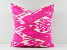 Hand Woven Ikat Pillow Cover, Ikat throw pillows, Pink Ikat Pillow, Designer pillows, Ikat Pillow, Decorative pillows, Accent pillows