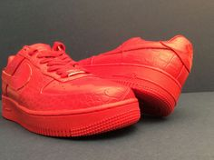 c126e1cbb22 NIKE AIR Force 1 LOW SUPREME 1 LOVE   HECTIC CROCO LEATHER  318985-661  SIZE  12