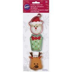 Santa Christmas Cookie Cutter Set