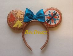 Pocahontas inspired Minnie Mouse ears headband version 2. These were a custom request from my Etsy shop, EarzbyBecDeazz.