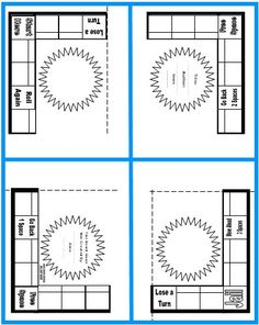 Game Board Book Report Project Templates Worksheets Grading