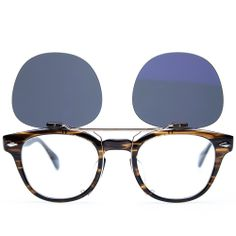76a4f6e54cfb Maison Kitsuné x Oliver Peoples Tokyo Clip Sunglasses (Brown Marble & Grey  Polarised)