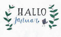 #hellojanuary #hallojanuar #brushlettering #handlettering Brush Lettering, Designs, Image, Instagram, Decor, Hello January, Photo Calendar, Pretty Pictures, Dekoration