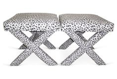 Drooling over these leopard X-benches.