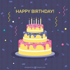 Confetti background and birthday cake #Free #Vector  #Background #Birthday #Invitation #Happybirthday #Party #Gift #Box #Cake #Giftbox #Anniversary #Celebration #Happy #Confetti #Present #Birthdayinvitation #Balloons #Gifts #Birthdaycake #Partyinvitation #Celebrate