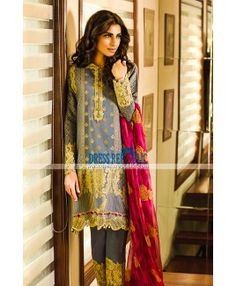 Crescent Faraz Manan Silk Jacquard Chiffon Collection 2015 For Eid