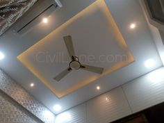 Gypsum board false ceiling with cove lights in small bedroom