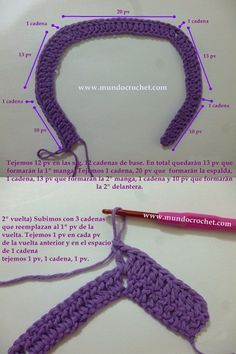В пальто-куртка-кардиган-chambrita для вязания крючком или вязания крючком стадии