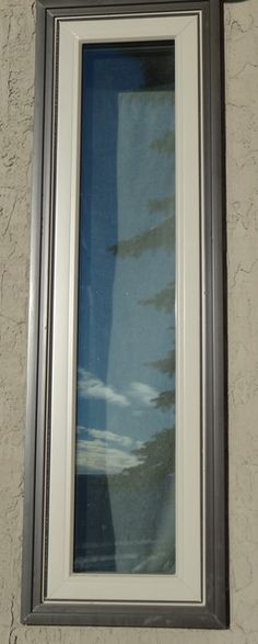 Fixed Frame Windows : Vinyl windows black exterior frame brickmould trim