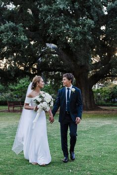A Gorgeous Perth Outdoor Garden Wedding with a courtyard reception under festoon lights. The bride wears Nelder Jones.