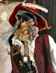 Life Size Pirate Skeleton Haunt Retail Prop by MasterWerx on Etsy