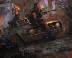Post Apocalyptic Smoke Break by Cristi-B.deviantart.com on @deviantART