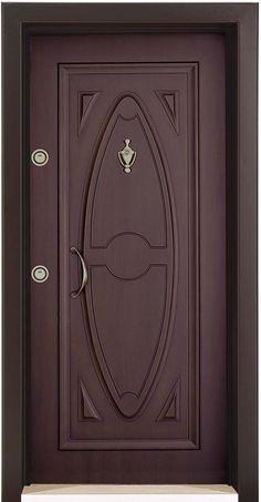 Steel Door with embossed panel Wooden Main Door Design, Mansion Interior, Steel Doors, Entrance Doors, Wooden Doors, Innovation Design, French Doors, Photo Wall, Beauty
