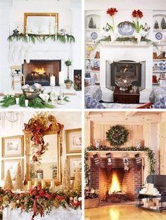 Christmas+Mantle+Decorating+Ideas | Christmas Indoor Decorations - Fireplace Mantel Decorating Ideas ...