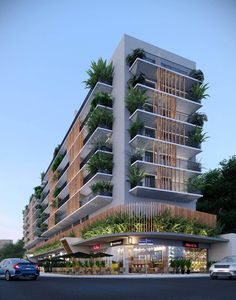 Architecture Concept Drawings, Landscape Architecture Drawing, Hotel Architecture, Futuristic Architecture, Architecture Design, Duplex House Design, Apartment Design, Arch Building, Building Elevation