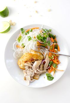 Coconut Lime Chicken - Pinch of Yum -- minute brown sugar (and noodles - of course!! just the chicken)