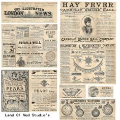 Free vintage ads 1892 collage sheet