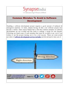 Here the article will help you to avoid some common mistakes that a developer can make in application software development. The article also suggests the right solutions.