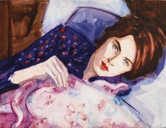 Elizabeth Peyton.  Evan with the flu, oil on canvas, 1997