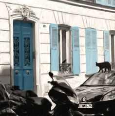 Etsy Print: Parisian streets