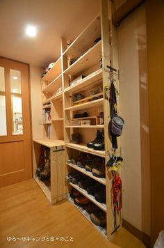 ゆら~りキャンプと日々のこと山道具の収納棚 DIY