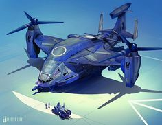 leading light concept design hovercraft space craft helicopter hovercopter dropship carrier vessel vtol 22 osprey futuristic by iampariah, via Flickr