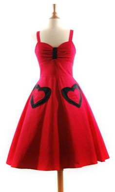 Red Heart Pin Up Dress - Pin Up Dresses Image