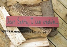 Santa letter handpainted sign by ChristineSherriffs on Etsy, Christmas Is Coming, Christmas 2015, Santa Letter, Hand Painted Signs, Sign I, Sign Quotes, Canada, Craft Ideas, Lettering