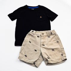 Chino Charmer // Boys 4T Shirt and Shorts- Baby Gap with Gymboree- Click to see the whole 10 piece lot!