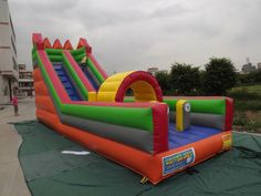 Colorful inflatable #slide