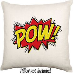 Comic POW Geek POP ART Decorative Linen Throw Cushion Pillow Case | eBay