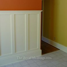 Craftsman Style Wainscoting Ideas | How to Install Tall WAINSCOTING-100 for About $10.33/ft | The Joy of ...