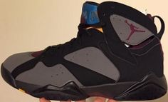 19d25a531a6a Air Jordan 7 Retro Black Bordeaux-Light Graphite-Midnight Fog 304775-034  www.authenticjordansair.com
