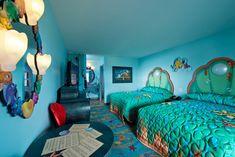 little mermaid suite - Art of Animation Disney Hotels, Casa Disney, Disney Rooms, Disney Diy, Disney 2017, Disney Travel, Disney Cruise, Disney Magic, Disney Parks