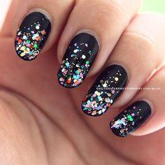 Image result for black nail designs