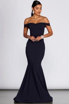 Black Mermaid Dress, Mermaid Prom Dresses, Prom Gowns, Navy Blue Bridesmaid Dresses, Wedding Bridesmaid Dresses, Dark Blue Dresses, Bridesmaid Jewelry, Bridesmaids, Cosplay Steampunk