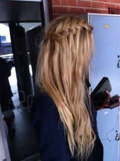Dirty blonde waterfall braid; long length