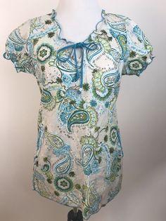 17392c760fd Koi Scrub Top XS Paisley Short Sleeve Pockets Ruffle Nurse CNA Medical Size  XS #fashion #clothing #shoes #accessories #uniformsworkclothing #scrubs  (ebay ...