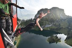 Bungy Jumping | AlpinRaft #Interlaken #Outdoor #Fun #Adventure #Switzerland #Alps #Stockhorn #Mountains Stockhom bungy located in the Swiss Alps is one of the most breathtaking and unusual bungy sites in the world. You are lifted 134m up in a mountain gondola, the doors open and you take the plunge; leaping and freefalling towards the pristine mountain lake Stockensee. Enjoy the rush of a lifetime and remember to smile for the camera!
