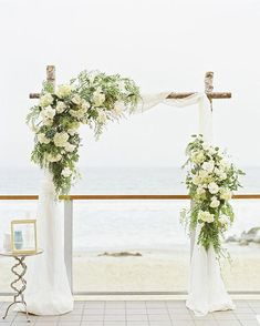 The English Garden - Flower Arrangements, Wedding Flowers & Wedding Ceremony Ideas, Wedding Arbors, Beach Wedding Reception, Wedding Canopy, Beach Wedding Decorations, Destination Wedding, Wedding Planning, Beach Weddings, Beach Ceremony