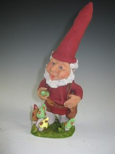 Gnome with Mushrooms by DebbiesClayArt on Etsy, $30.00