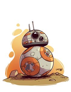 Star Wars fan art Chibi by DerekLaufman on Star Wars Fan Art, Star Wars Bb8, Star Wars Desenho, Star Wars Karikatur, Cartoon Star Wars, Tableau Star Wars, Star War 3, Love Stars, Geeks
