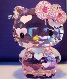 Everything Hello Kitty for you. Different Hello Kitty stuff. Hello Kitty Items, Sanrio Hello Kitty, Swarovski Crystal Figurines, Swarovski Crystals, Miss Kitty, Hello Kitty Collection, Little Twin Stars, Girly Things, Projects To Try