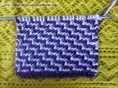 Staircase slip stitch pattern is all garter stitch.