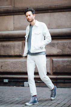 Men s Black Jeans With White Denim Jacket Combinations Inspiration ... fe8b8d4f81a