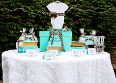 Tiffany Blue and chocolate brown baby shower ideas