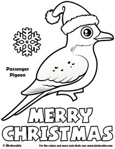Birdorable Passenger Pigeon Christmas Coloring Page
