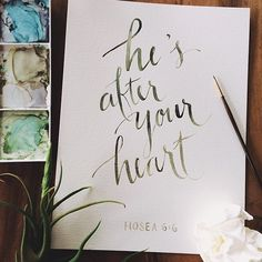 Jesus is after your heart...